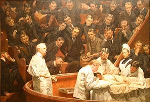"""Thomas Eakins, """"The Agnew Clinic,"""" 1889"""
