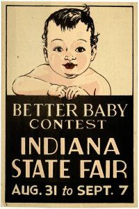 Poster with white baby drawing advertising Better Baby Contest
